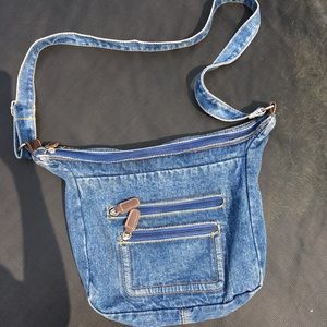 Denim Shoulder / Crossbody Bag